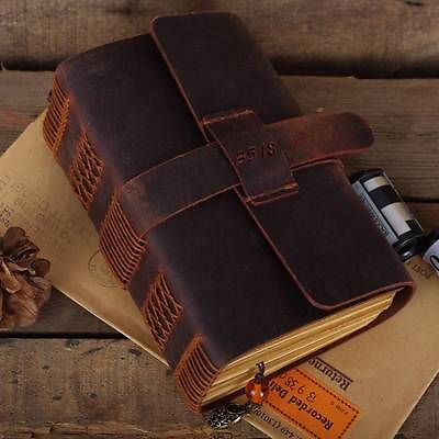 Blank Diaries Journals notebook note book traveler thick genuine leather size:115mm*165mm* 50mm blank diaries journals notebook note book genuine leather