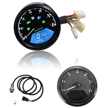 цена на Motorcycle Meter Odometer LED Digital Indicator Light Tachometer Speedometer Oil Meter Multifunction With Night Vision Dial