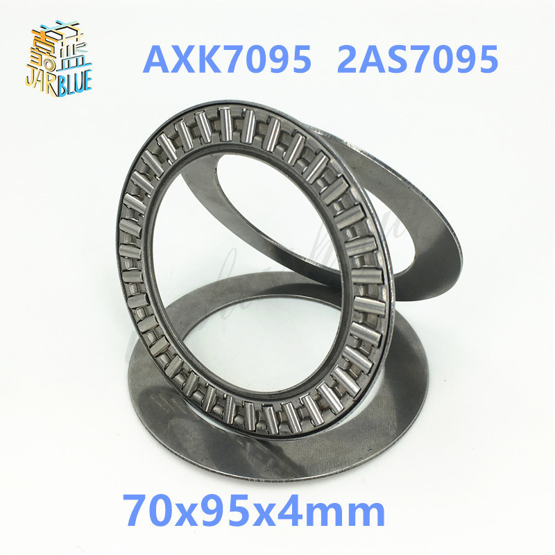 Free shipping 1pcs AXK series AXK7095  2AS7095 thrust needle roller bearing 70x95x4mm bearing  whosale and retail 70*95*4mm na4910 heavy duty needle roller bearing entity needle bearing with inner ring 4524910 size 50 72 22