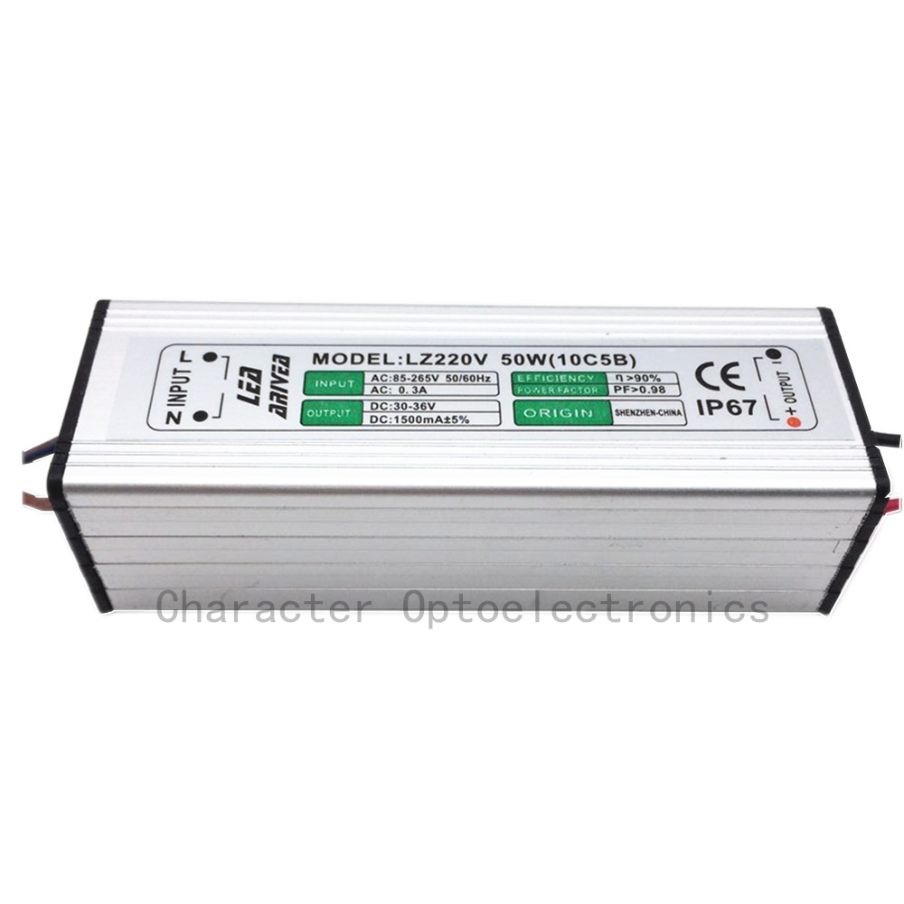 10pcs 50W LED drajver 1500mA 30-36V COB velike snage LED poplava - Različiti rasvjetni pribor - Foto 2