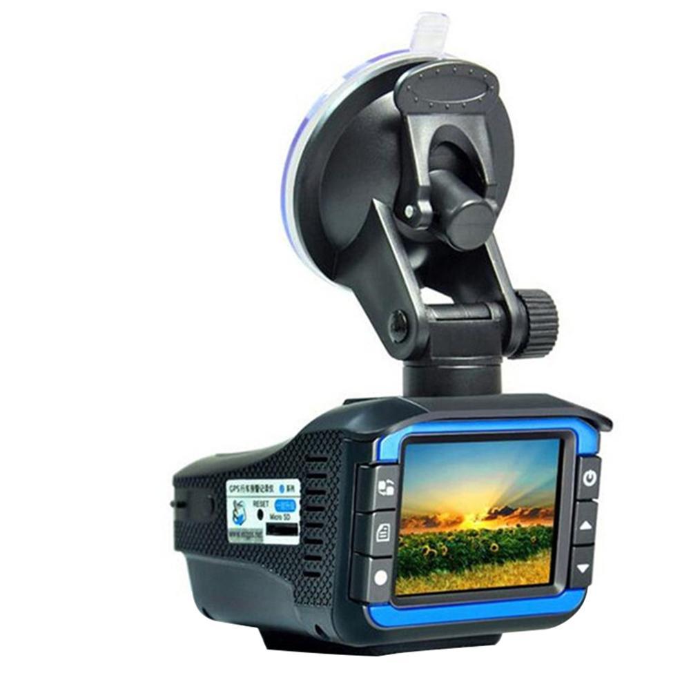3 in1 voiture DVR enregistreur Radar détecteur de vitesse GPS enregistreur de piste voix russe