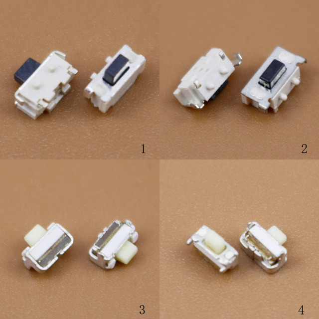 Yuxi 1.6*4*2.8 1.6*4*2.8 1.8*4.7*3.5 3*6*3.5 2*4*3.5mm 마이크로 smd 택트 스위치 사이드 버튼 스위치 mp3 mp4 mp5 태블릿 pc