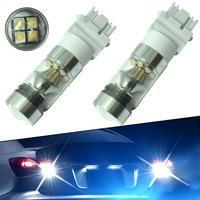 2pcs Car 3156 3157 H7 Car LED Backup Reverse Light 100W High Power 6000K White Projector