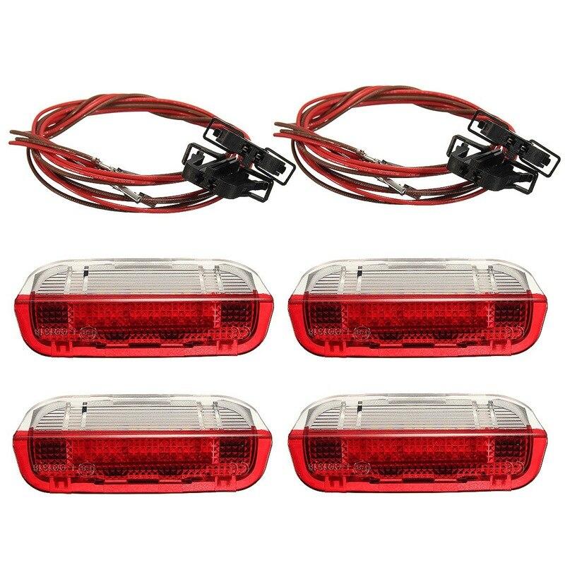 Neue 4 Teile/satz Türwarnleuchte Mit Kabel Für VW/Volkswagen/Golf 5 Golf 6 Jetta MK5 MK6 CC/Tiguan/Passat B6
