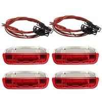 New 4 Pcs/Set Door Warning Light With Cable For VW/Volkswagen /Golf 5 Golf 6 Jetta MK5 MK6 CC /Tiguan /Passat B6