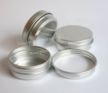 Free Shipping  - 50 x 30g aluminum jar, 30 gram metal cream 1 oz silver case, g cosmetic container