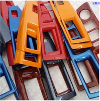 4PCS/SET Carbin Fibre Red Blue Window Switch Frame Cover For Chevrolet Cruze 2009 10 11 12 13 14 2015 AAA089