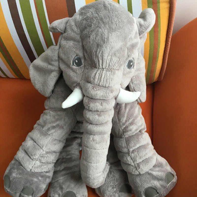 60 cm Elefant Plüsch Weichen Spielzeug Gefüllte Baby Kinder Spielzeug Tier Große Größe Beschwichtigen Baby Schlaf Kissen Babys Ruhig Puppe geschenk TY0168