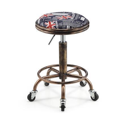 225 High stool. Makeup stool.. Vintage hairdressing stool..331