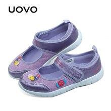 5625f995a44f UOVO 2018 crianças novas sapatos da moda meninas princesa sapatos casuais  iluminar sapatos de marca meninas