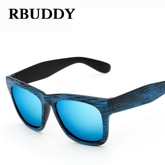 e6d16615bd RBUDDY imitar Espejo Macho Cuadrado De Madera de bambú gafas de sol  Polarizadas de Los Hombres