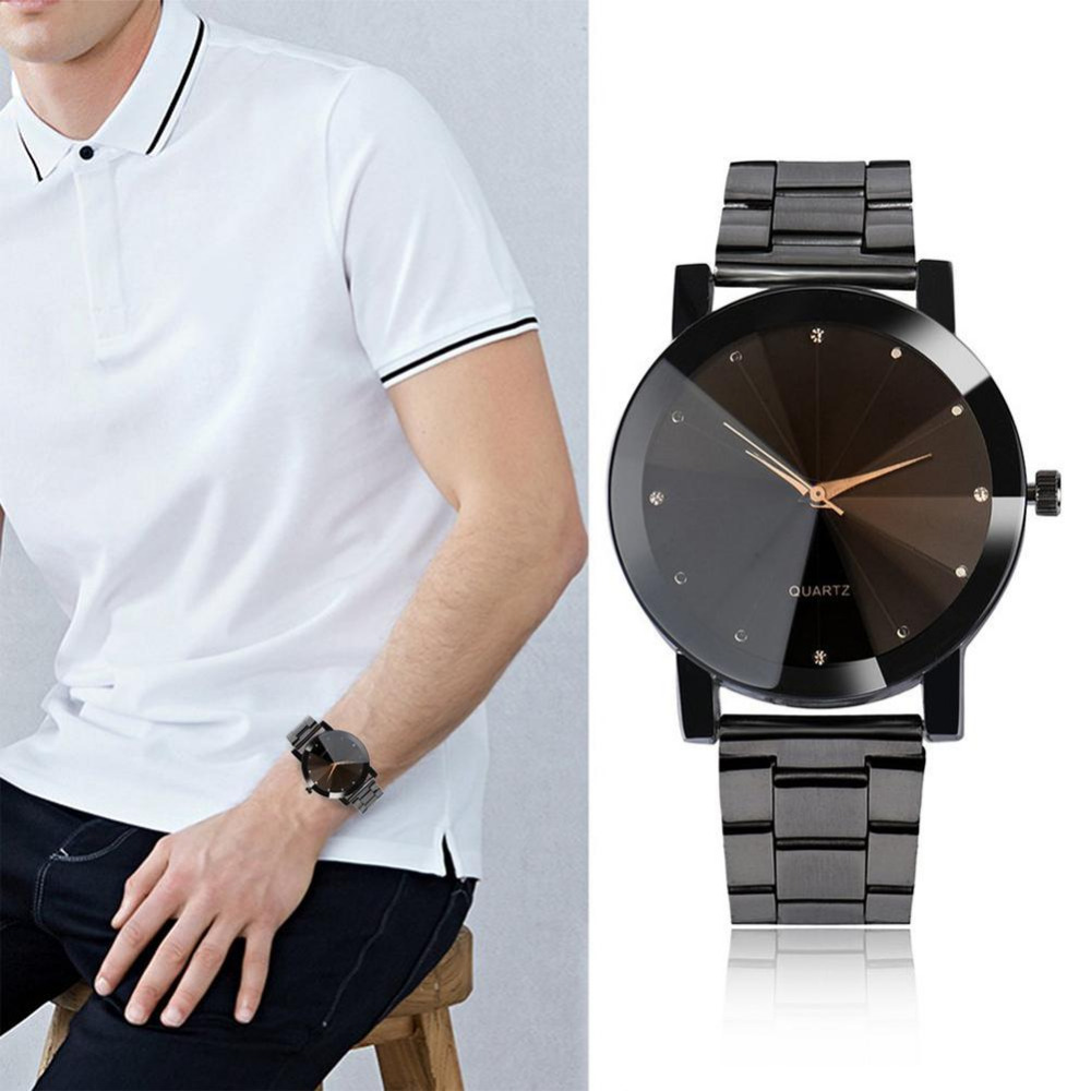 Business Watch Men Stainless Steel Luxury Band Quartz Wrist Watches Simple Fashion Watch Male Clock Hodinky Men Sports Gifts