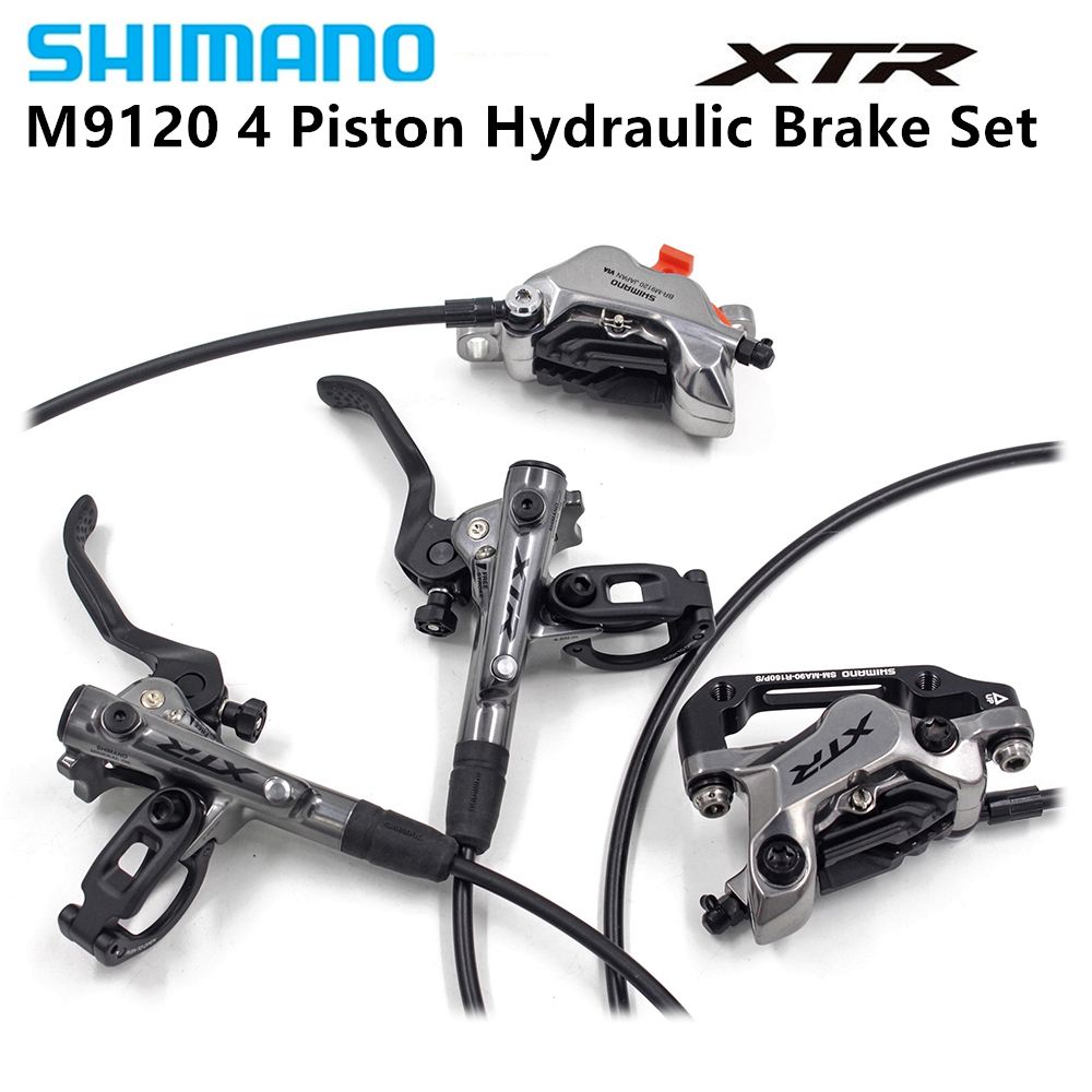 Jeu de freins à disque hydrauliques Shimano XTR BL BR M9120 frein à vélo vtt 4 pistons avant/arrière 850/1550mm
