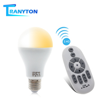 цена на Smart LED Bulb E27 AC86-265V 6W 9W 12W LED Spotlight RF 2.4G Remote Control Smart Lighting Warm White Cold White Changeable Bulb