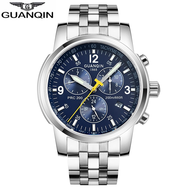 GUANQIN 2019 Automatic Mechanical Clock men Sport 200m Resistant swimming diver waterproof men's watch Relogio Masculino zegarek-in Sports Watches from Watches    1