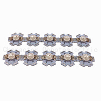 20pcs 6pin 3W RGB Color High Power LED Chip Light (RED+BLUE+ GREEN) for RGB led lamp With 20mm Star Base