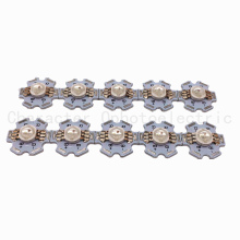20pcs 6pin 3W RGB Color High Power LED Chip Light (RED+BLUE+ GREEN) for led lamp With 20mm Star Base