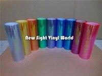 36 Rolls/Lot Rainbow Chameleon Headlight Vinyl Wrap Chameleon Taillight Film Car Lamp Tint