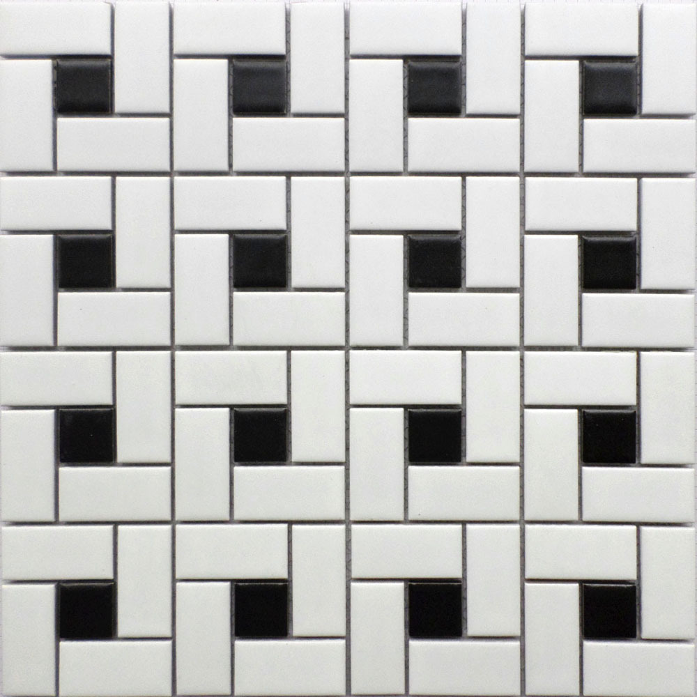 Aliexpress.com : Buy 11 square feet black and white brick ceramic ...