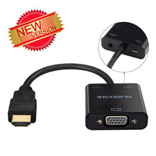 VicTsing Gold-Plated 1080P HDMI to VGA Adapter Video Converter with Micro USB & 3.5mm Audio Port Cable for PC/Laptop/DVD