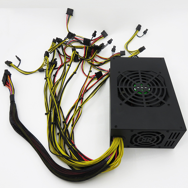 1800w psu atx smps for gpu graphic card gpu mining case rig-in PC ...