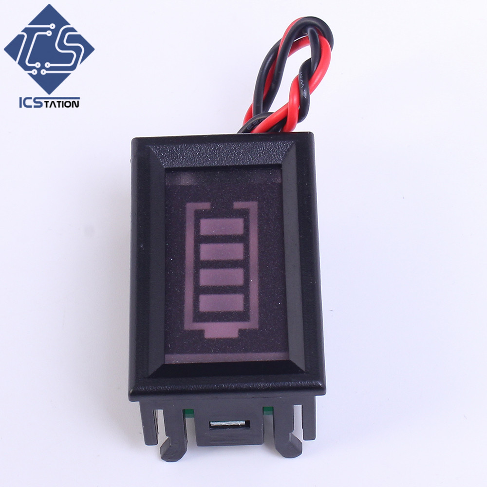 цены  Green Display 6V Lead Acid Storage Battery Capacity Indicator 4 Segment Power Display Board Electricity Meter Tester