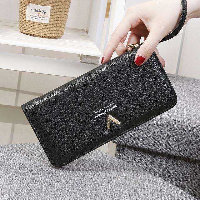 Fashion Women Wallet Long Zipper Pu Handbag Clutch Best Phone Wallet Female Case Phone Pocket Women's Purse 1