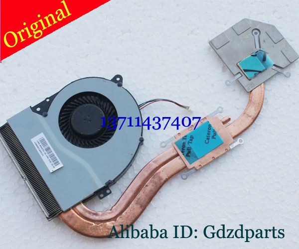 Original Used tested CPU Cooling Fan And Heatsink For asus X550C x552WE Y581C X552EP X550LC Laptop samsung rs 552 nruasl