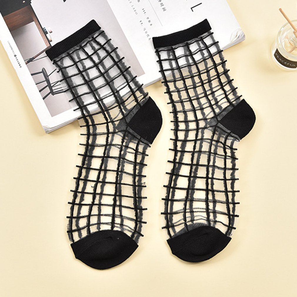 Fashions Super Thin Crystal Silk Middle   Socks     Socks   Breathable Fashion Casual Comfortable Middle   Socks   2018 waresale