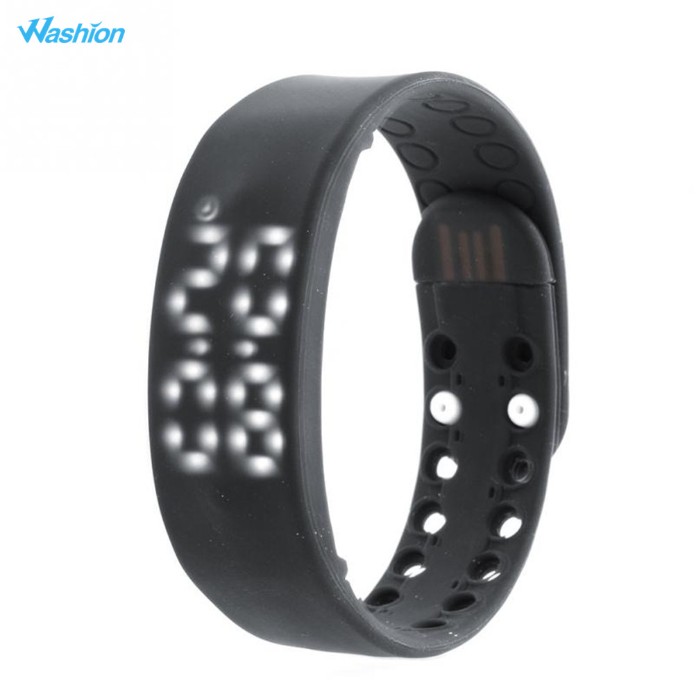 Washion W2 Smart Band Fitness Tracker Rechargeable Durable 3D LED Pedometer Sleep Monitoring USB Sports Smart