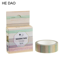 The Stripes Of Gradient Color Decorative Washi Tape Diy Scrapbooking Masking Tape School Office Supply Escolar Papelaria