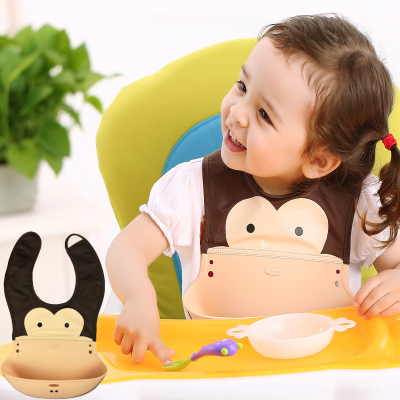 Waterproof Baby Bib Silicone Bandana Dribble Plastic Bibs for Babies Feeding Boy Scarf Children Infant Kerchief Saliva Towel