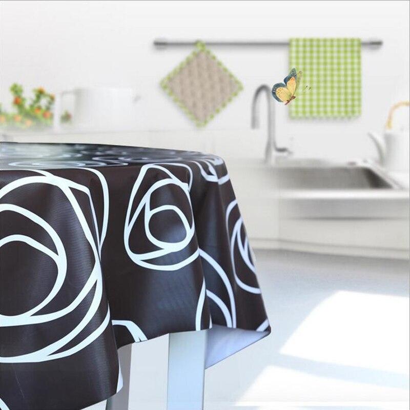 ПВХ скатерть водонепроницаемый водо-и пыле скатерть Европейский цветок печати журнальный столик ткань оптовая продажа