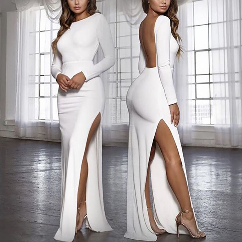 63fa5627b9 Sin Mangas Otoño Es azul borgoña 2019 Marino Vestido Negro blanco Alta  Mujeres Sexy Cuello Elegante ...