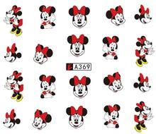 цена на Nail Art Sticker Slider Water Decals Cartoon Minnie Nails Stickers Design Decoration Manicure Foil Wraps Pegatinas