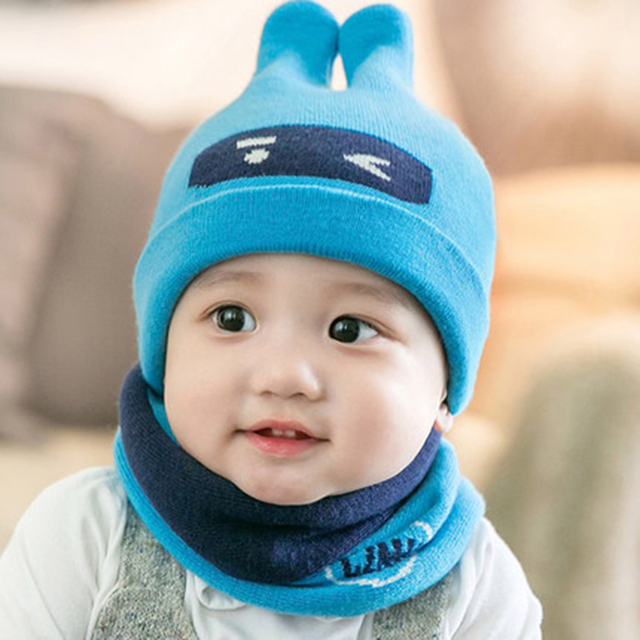 Winter Warm Hat Baby Cap For Boys Girls Toddler Sapka Beanie Kids Lovely  Warm Organic Cotton Baby Hat With Ears Infant 703995 1beb2b84220