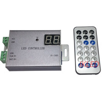 led lights controller,1 port drives max 4096 pixels,infrared remote control,DMX512,WS2812,UCS1903 controller,exclusive software
