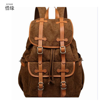 XIYUAN BRAND Travel Bag Large Capacity Men backpack Canvas Weekend Bags Multifunctional Travel Bags Christmas gifts for student augur to 15laptop canvas school bags for teenage boys college student computer book bag stylish large capacity travel men bag