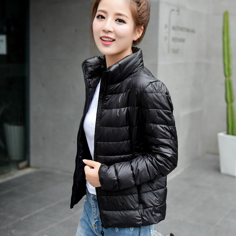 2018 New Women Winter Ultra Light White Duck Down Jacket Portable Windproof Coat ZLC005