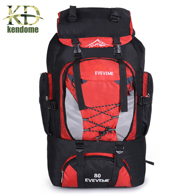Men's 80L Large Waterproof Climbing Hiking Backpack Camping Mountaineering Backpack Sport Outdoor Rucksack Bag цена