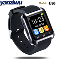 Yanziwu novo smart watch u80 do bluetooth smartwatch para iphone ios android windows phone desgaste relógio wearable dispositivo smartwach pku8