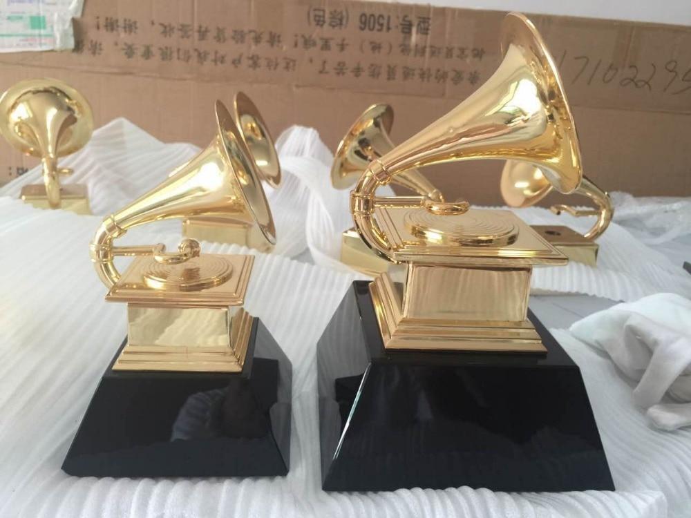 Grammy Award Gramophone Metal Trophy by NARAS  Free Shipping  18.5CM trophy