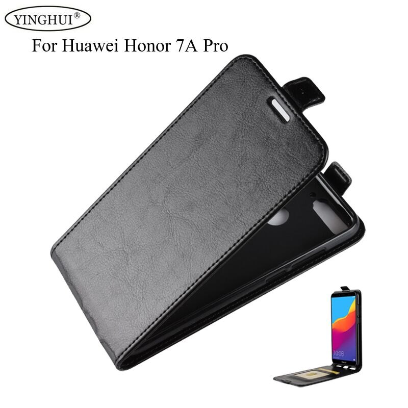 For <font><b>Huawei</b></font> <font><b>Honor</b></font> 7A Pro Luxury PU Leather <font><b>Case</b></font> For <font><b>Huawei</b></font> <font><b>Honor</b></font> 7A Pro / Enjoy 8E <font><b>Flip</b></font> Protective Phone Shell Back Cover image