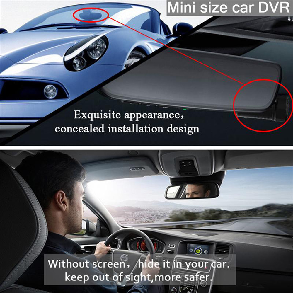 WIFI Car Dashcam Video Recorder Digital Registrar Camcorder Dash Cam CMOS HD Mini Wireless Remote Control Drop Shipping