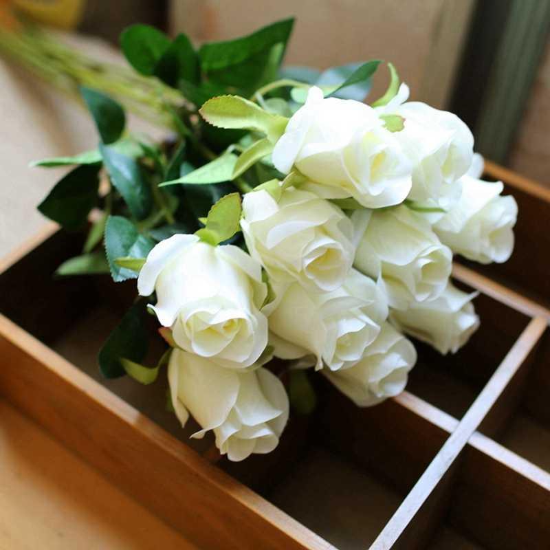 10 шт./партия, высококачественные Искусственные цветы розы, настольные силиконовые искусственные цветы, искусственные цветы, искусственные растения, украшение для свадебной вечеринки, домашний декор