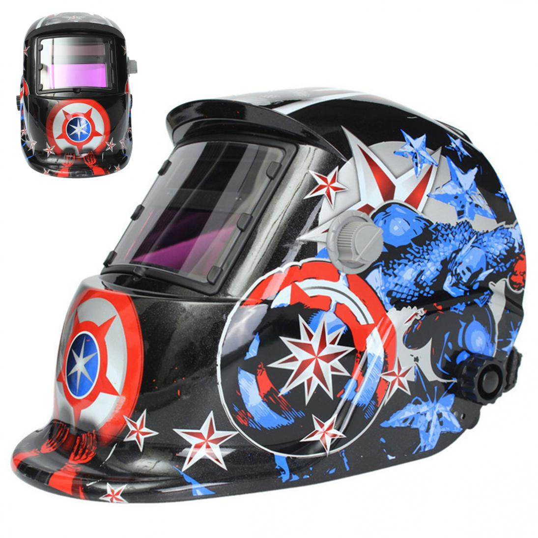 цена на Professional Solar Auto Darkening MIG MMA Electric Welding Mask/Helmet/Welding Lens for Welding Machine or Plasma Cutter