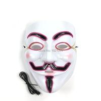 20 штук EL провода светящийся маска Хэллоуин украшения фестиваль вечеринок оптовая продажа код Rave пользовательские маски