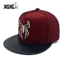 XGXL nueva marca metal araña grande gorra de béisbol hombres Snapback Cap Hip  hop HatsSports gorras 0acdf4bde30