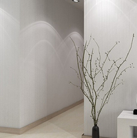 Simple Style White Cream Coffee Modern Flocking Embossed Textured Lines Wallpaper Roll Striped Wall Papers Home