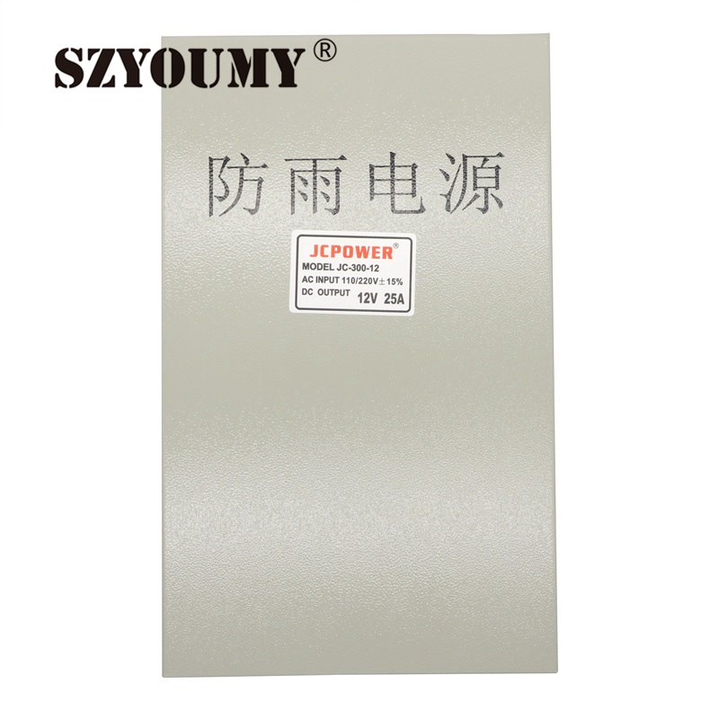 SZYOUMY Rainproof LED Driver Transformer CE Approval Constant Voltage output Switching <font><b>Power</b></font> <font><b>Supply</b></font> <font><b>12V</b></font> DC <font><b>25A</b></font> 300W image